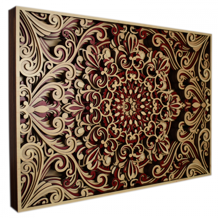 Tablou mandala din lemn - Armonie [1]