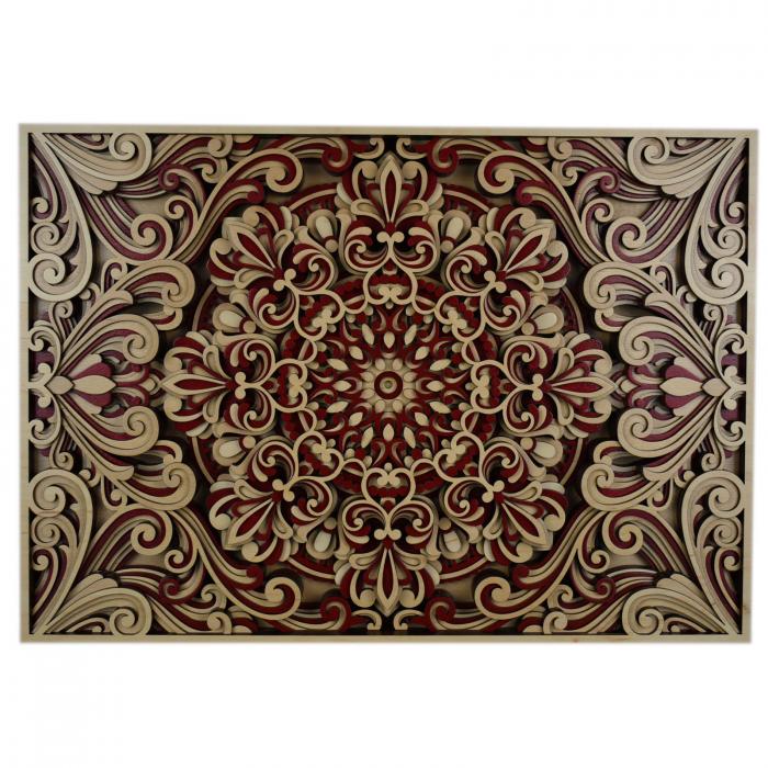 Tablou mandala din lemn - Armonie [0]