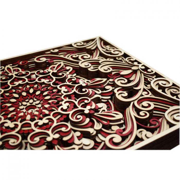 Tablou mandala din lemn - Armonie [2]