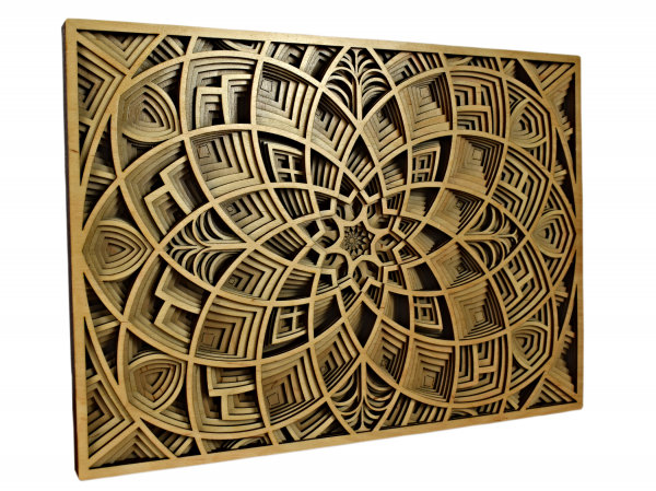 Tablou mandala din lemn - Lotus [1]
