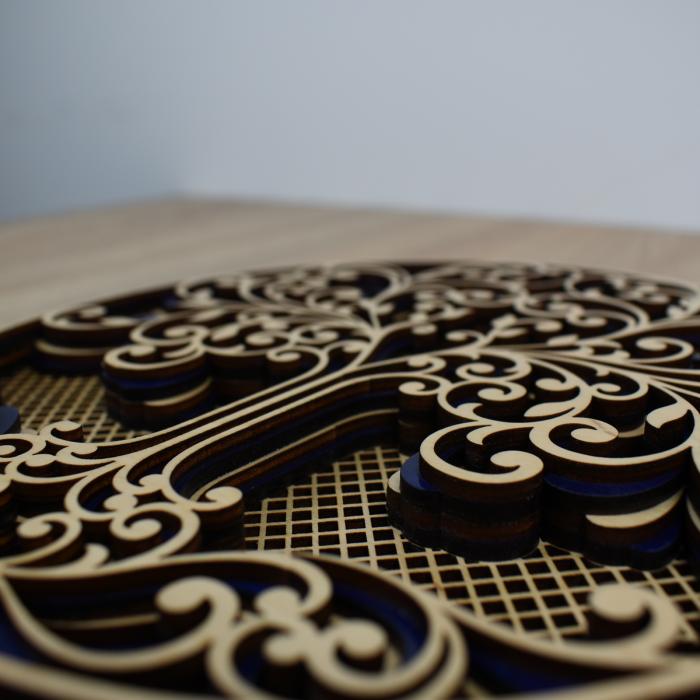 Tablou mandala din lemn - Copacul vietii [2]