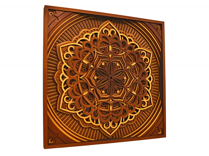 Tablou mandala din lemn - Cununa vietii [1]