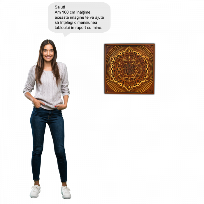 Tablou mandala din lemn - Cununa vietii [3]