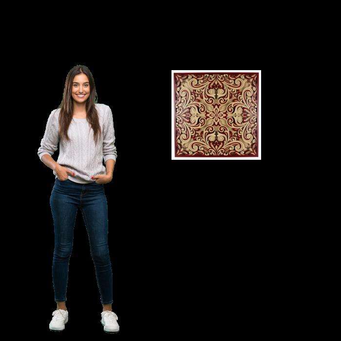 Tablou mandala din lemn - Profunzime [3]