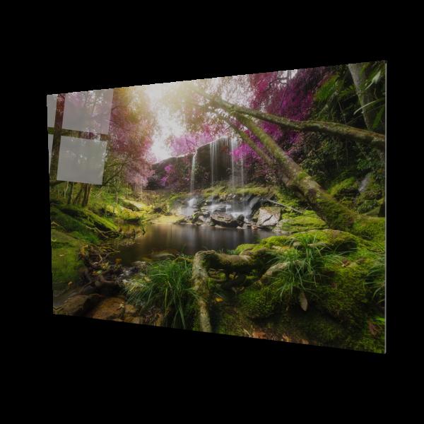 Tablou din sticla acrilica - amazing forest waterfall 0