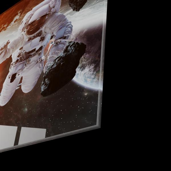 Tablou din sticla acrilica - astronaut floating in space 1