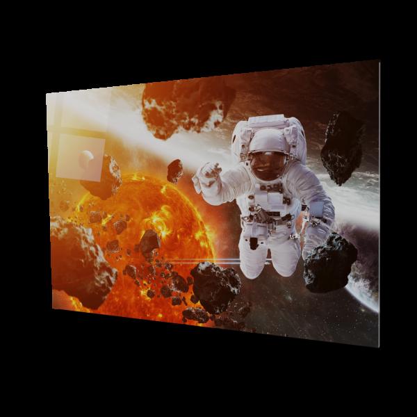 Tablou din sticla acrilica - astronaut floating in space 0