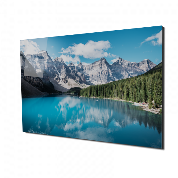 Tablou din sticla acrilica - beautiful Canada lake 0