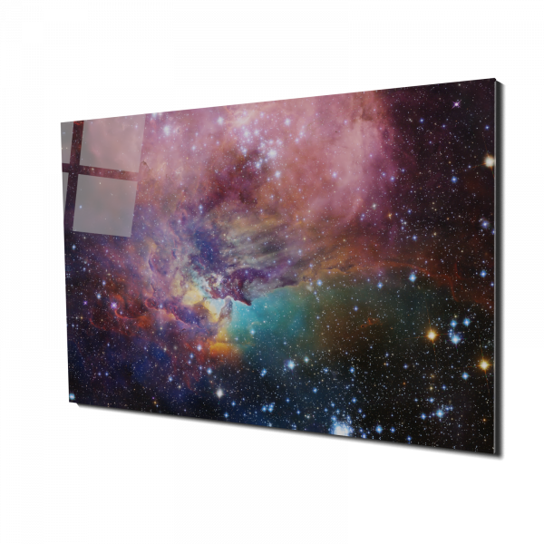 Tablou din sticla acrilica - beautiful galaxy 0