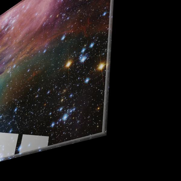 Tablou din sticla acrilica - beautiful galaxy 1