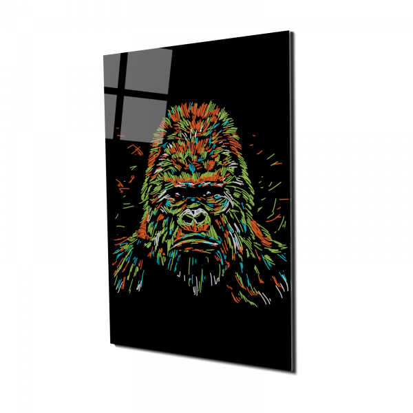 Tablou din sticla acrilica - colourful gorilla 0