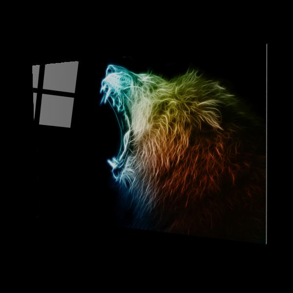Tablou din sticla acrilica - colored lion 0