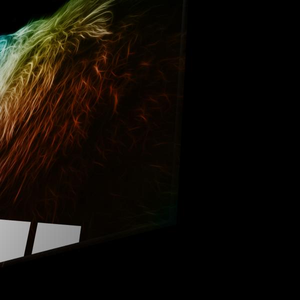 Tablou din sticla acrilica - colored lion 1
