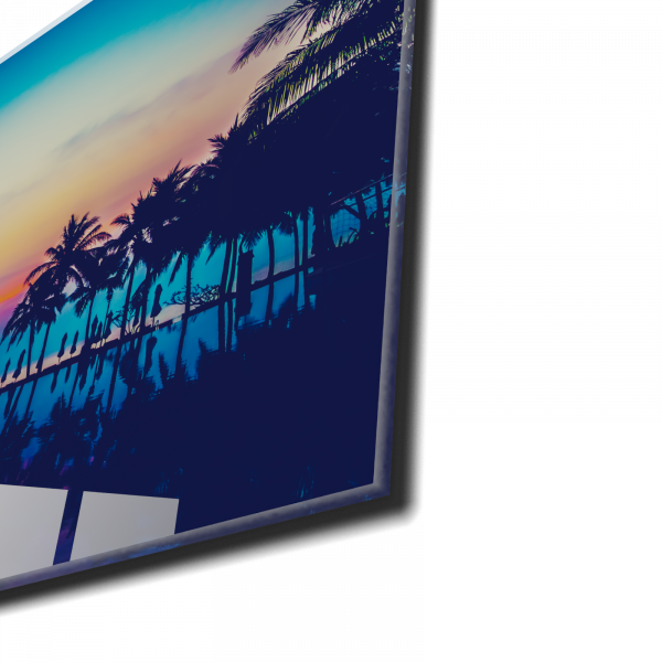 Tablou din sticla acrilica - colorful tropical beach 1