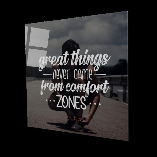 Tablou din sticla acrilica - comfort zones 0