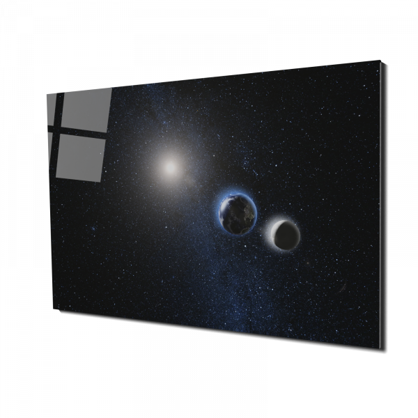 Tablou din sticla acrilica - earth and moon view 0