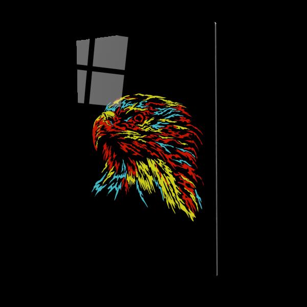 Tablou din sticla acrilica - abstract eagle 0