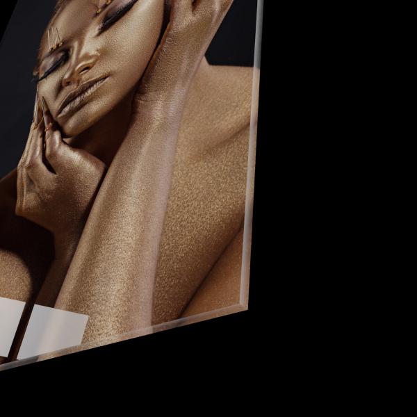 Tablou din sticla acrilica - golden makeup 1