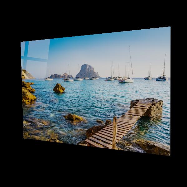 Tablou din sticla acrilica - Ibiza view 0