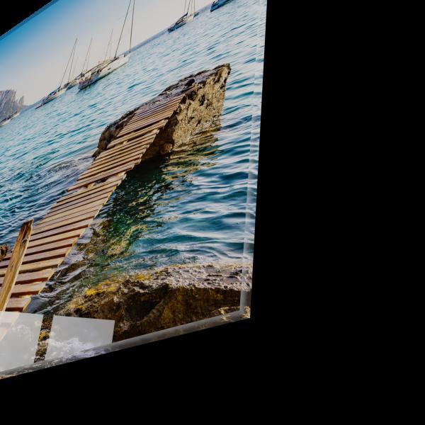 Tablou din sticla acrilica - Ibiza view 1