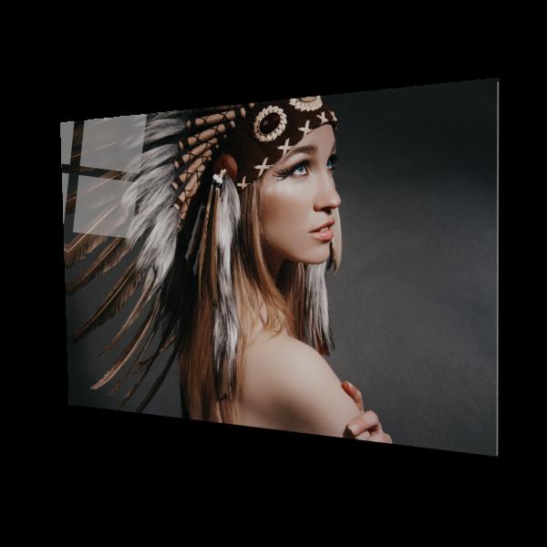 Tablou din sticla acrilica - Fata Papua [0]