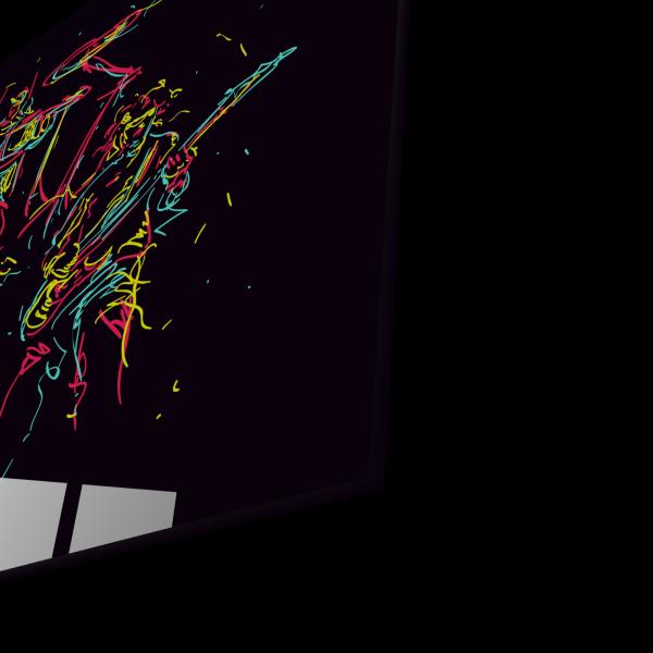 Tablou din sticla acrilica - abstract music band 1