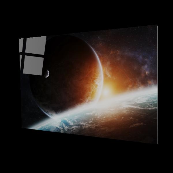 Tablou din sticla acrilica - planets 0