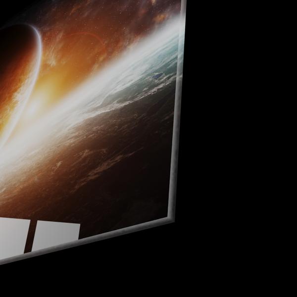 Tablou din sticla acrilica - planets 1