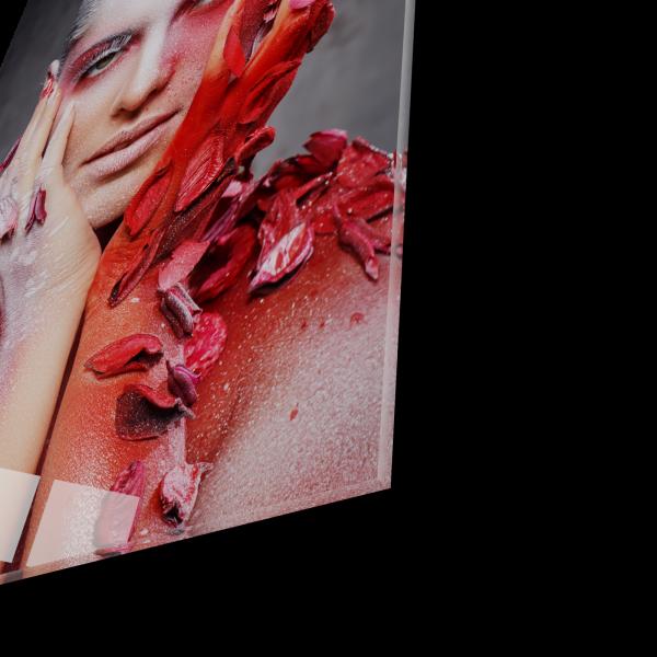 Tablou din sticla acrilica - red makeup 1