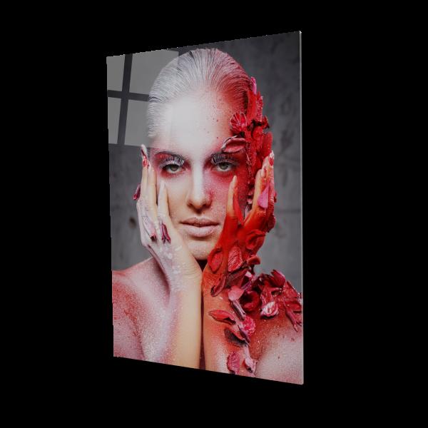 Tablou din sticla acrilica - red makeup 0