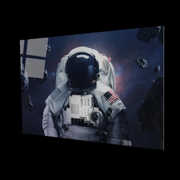 Tablou din sticla acrilica - spacewalking astronaut 0