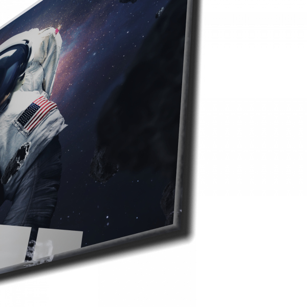 Tablou din sticla acrilica - spacewalking astronaut 1
