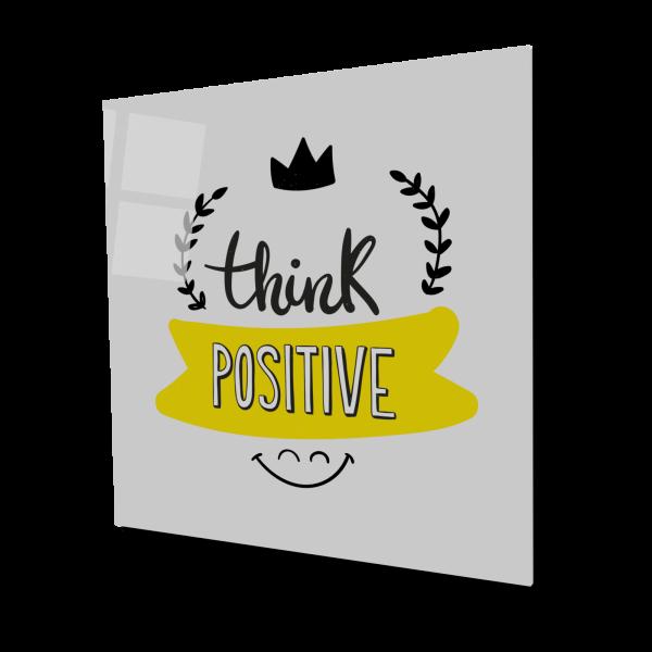 Tablou din sticla acrilica - think positive 0