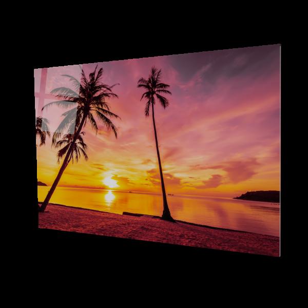 Tablou din sticla acrilica - tropical beach 0