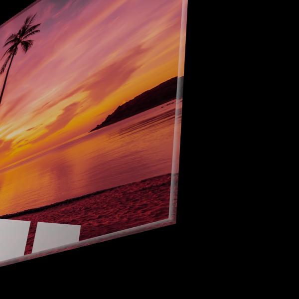 Tablou din sticla acrilica - tropical beach 1