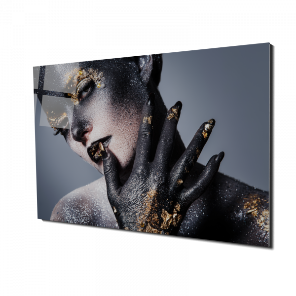Tablou din sticla acrilica - women artistic makeup 0