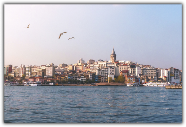 Tablou modern pe panou - Istanbul view Galata tower 0