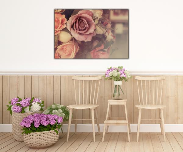 Tablou modern pe panou - colorful pink roses 4