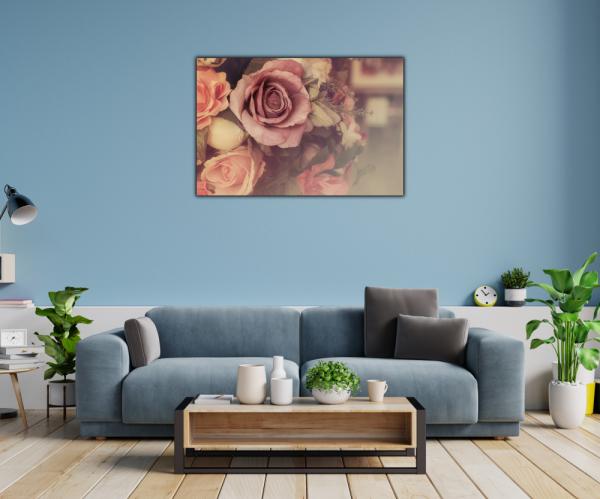 Tablou modern pe panou - colorful pink roses 1