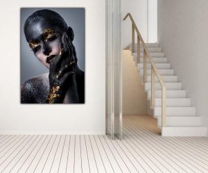 Tablou modern pe panou - beautiful women artistic makeup2