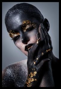 Tablou modern pe panou - beautiful women artistic makeup0