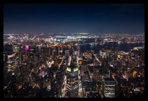 Tablou modern pe panou - panoramic aerial view Manhattan0