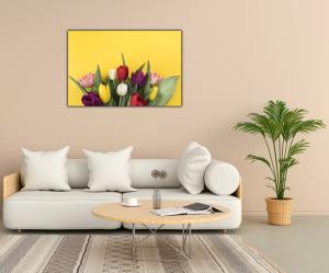 Tablou modern pe panou - muchos tulipanes2