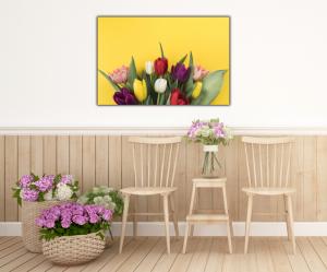 Tablou modern pe panou - muchos tulipanes4