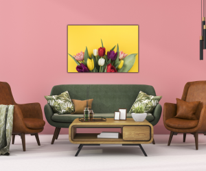 Tablou modern pe panou - muchos tulipanes3
