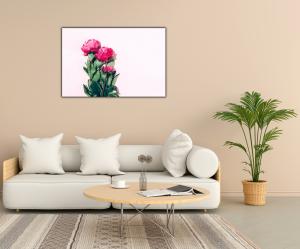 Tablou modern pe panou - pink peony2