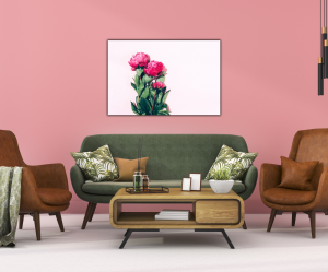 Tablou modern pe panou - pink peony3