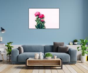 Tablou modern pe panou - pink peony1