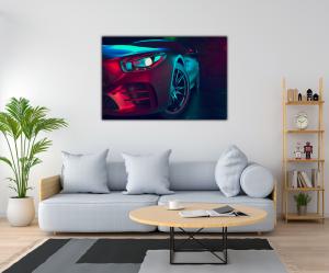 Tablou modern pe panou - beautiful sport car design1