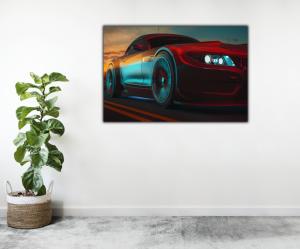 Tablou modern pe panou - modern sport car design2